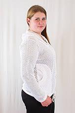 Красива оригінальна жіноча кофта з капюшоном, великі розміри., фото 3
