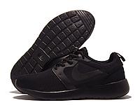 Кроссовки подростковые Nike Roshe Run черные (найк роше ран)