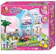 Конструктор Sluban Розовая мечта, Семейный дом с минифигурками, 539 дет., арт. M38-B0535
