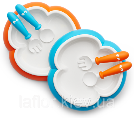 Детская тарелка,ложка и вилка Baby Bjorn , фото 2