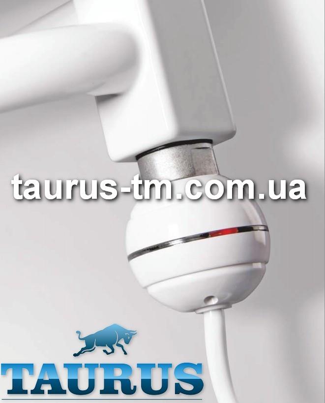 Белый компактный мини-ТЭН TERMA REG2 white с кнопкой (термостат 65С) +подсветка. Для полотенцесушителя
