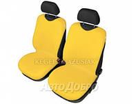 Чехлы майки на передние сиденье KEGEL закрытые желтый