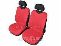 Чехлы майки на передние сиденье KEGEL закрытые красный