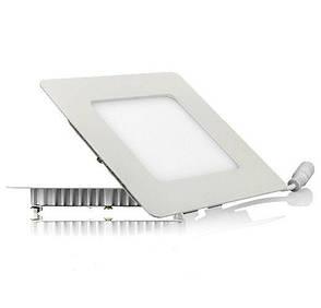 Светодиодный светильник, квадрат, 3W(нейтральный), фото 2