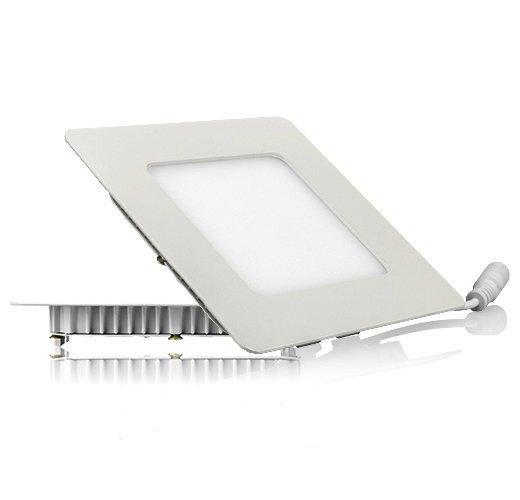 Светодиодный светильник, квадрат, 6W(теплый)