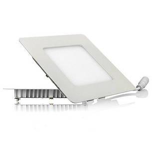 Светодиодный светильник, квадрат, 6W(теплый), фото 2