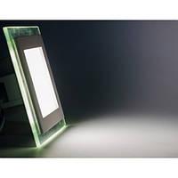 Светодиодный светильник, квадрат Glass, 6W(теплый)