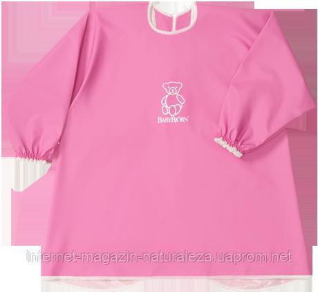 Рубашка для игр и кормления BabyBjorn розовый цвет, фото 2