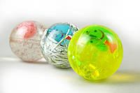 Мячик силиконовый, мигающий