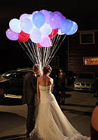 """Гелиевые шарики 12"""" со светодиодами"""