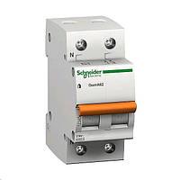 Автоматический выключатель Schneider ВА63 1П+Н 20A двухполюсный