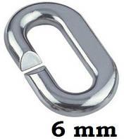 Нержавеющее сварное звено для цепи 6 мм