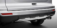 Алюминиевая накладка на задний бампер Honda CRV 2010-2012