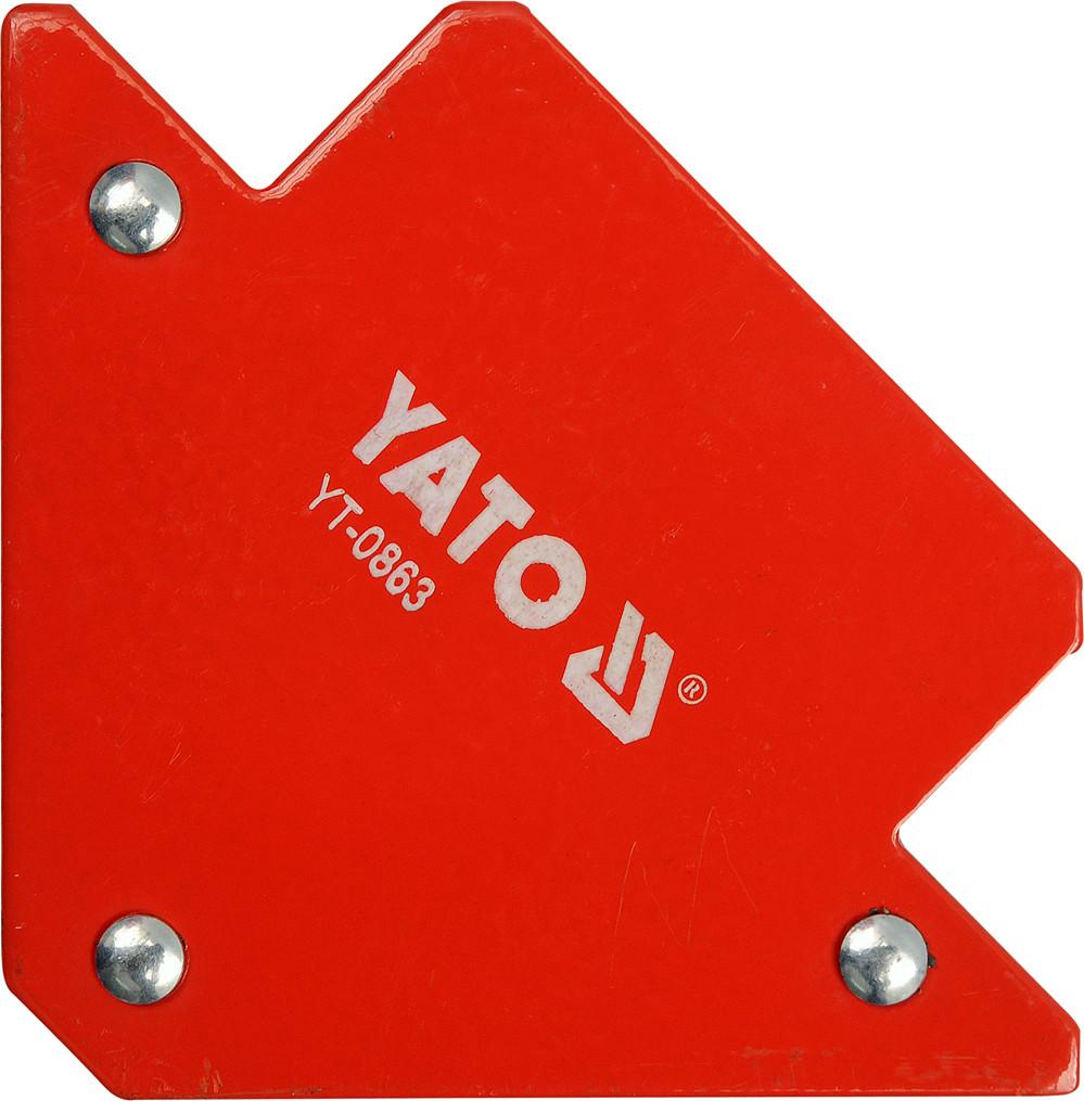 Магнитная струбцина для сварки YATO YT-0863 11,5 кг (45°, 90°, 135°)