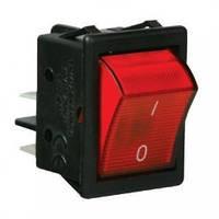 Выключатель клавишный 12 Вольт DC с подсветкой, фото 1
