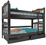 """Двухъярусная кровать """"Маряна"""" из дерева (массив бука)"""