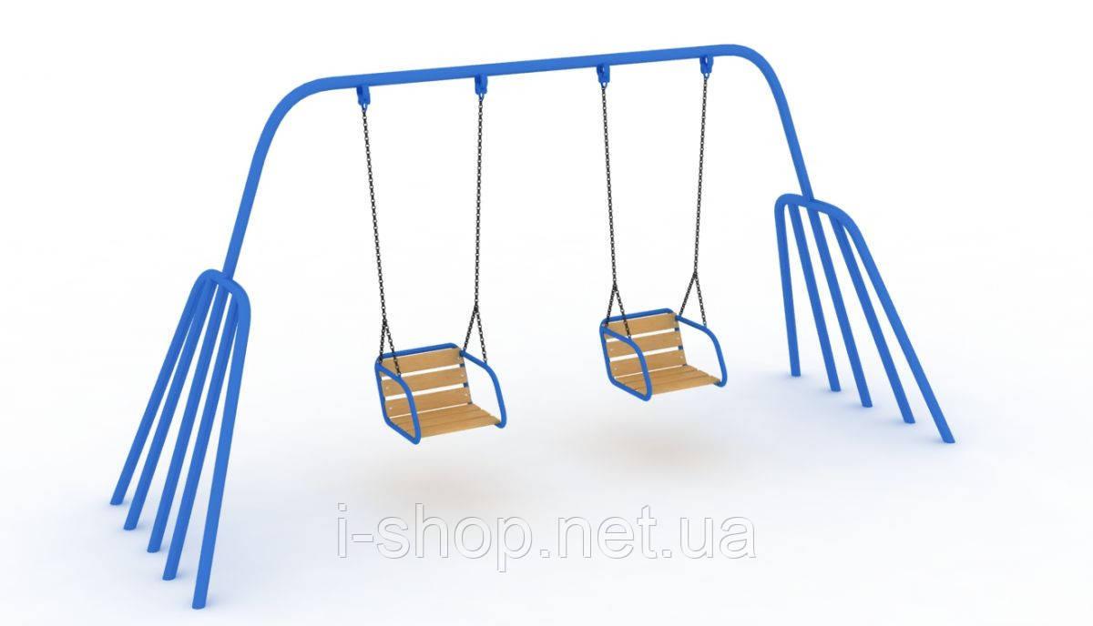 Детская качель Осьминог 2-х местная на гибкой подвеске KIDIGO КА 008