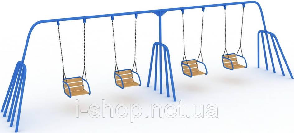 Детская качель Осьминог 4-х местная на гибкой подвеске KIDIGO КА 009, фото 2