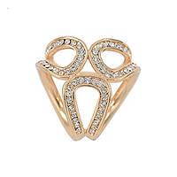 Брошь кольцо для платка в золоте, фото 1