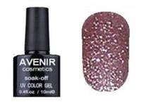 Гель-лак Avenir cosmetics 153 Кофейно - розовая голография, 10 мл