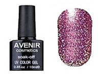 Гель-лак Avenir cosmetics 156 Сиренево - розовая голография, 10 мл