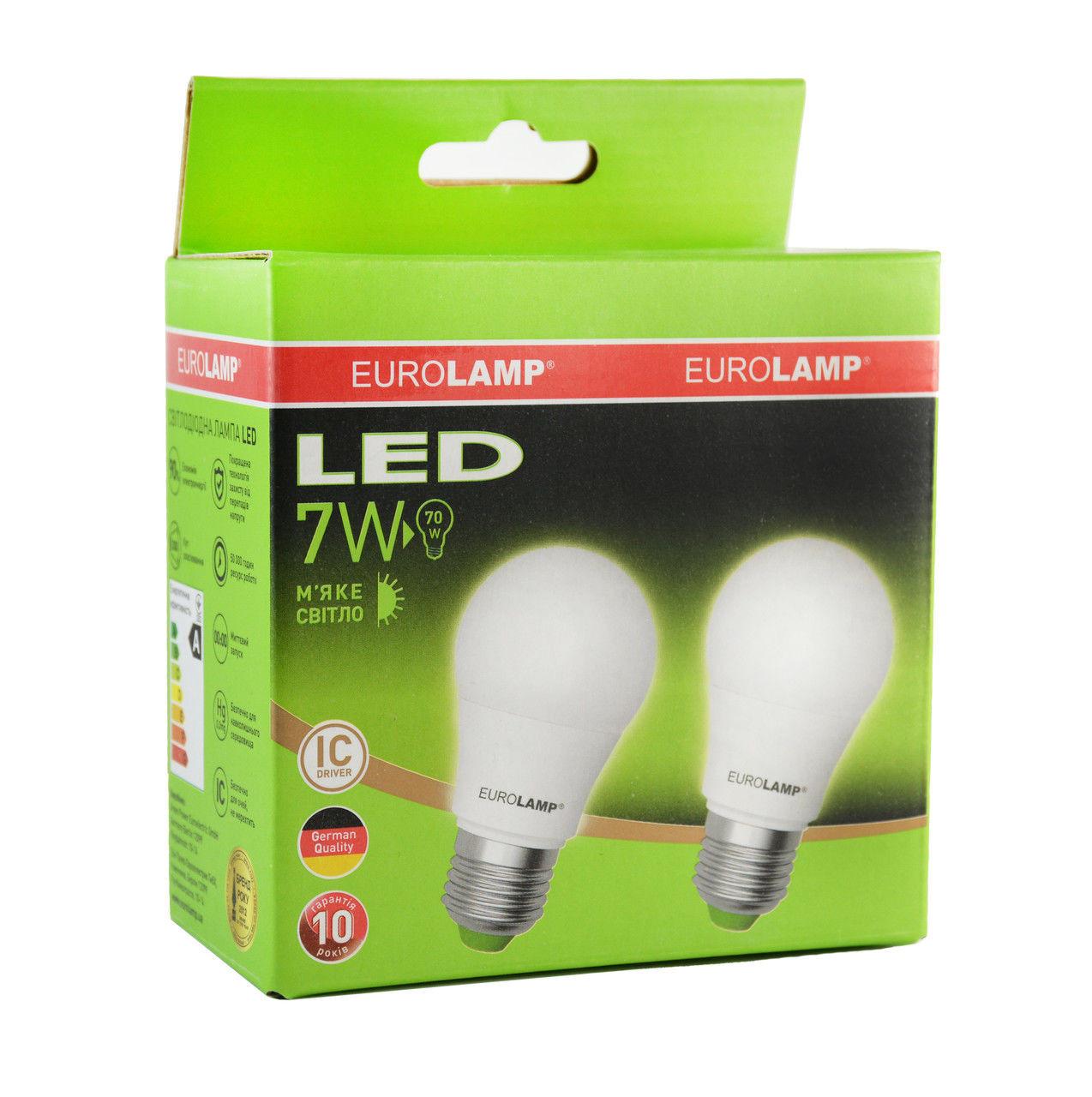 Промо-набор светодиодных ламп EUROLAMP EKO 7Вт A50 E27