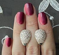 """Серебряные серьги """"Дамские пальчики"""" 925 пробы, фото 1"""