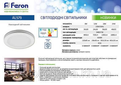 Поступление новых светодиодных светильников марки FERON!