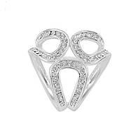 Брошь кольцо для платка в серебре, фото 1