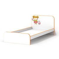 Красивая кровать без бортиков для девочки Мандаринка
