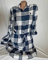 Рубашка платье женское в клетку Polo brand в Одессе