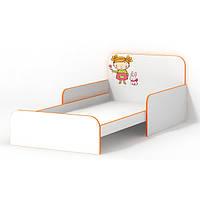 Детская кровать для девочки Мандаринка с бортиками