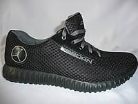 Новинка!!! Мужские кроссовки Jordan, черный, сетка.