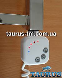 """Квадратный ТЭН HeatQ white с регулятором 30-60C для полотенцесушителей с таймером 2 ч. + LED; Поворотный; 1/2"""""""