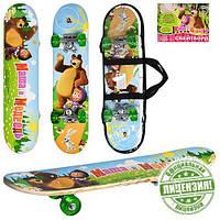 Скейт, скейборд детский Bambi Маша и Медведь