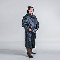 """Плащ дождевик непромокаемый """"Черный"""" из ПВХ + нейлон, размер XXXL"""