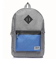 Рюкзак городской копия Herschel серо-синий