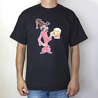 Футболка мужская Козак Око з кухелем, темно-серая, 100% хлопок M