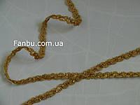 """Золотая декоративная тесьма """"волна с усиками""""металлизированная, ширина 1.3см, фото 1"""