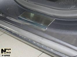 Накладки на пороги Premium Opel Astra IV J 5D 2010-