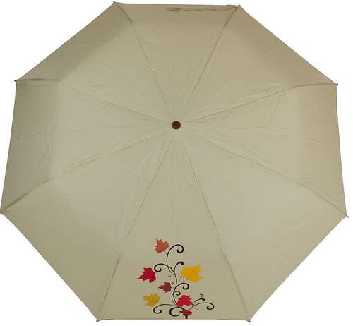 Надежный женский полуавтоматический зонт,  антиветер AIRTON (АЭРТОН) Z3631NS-4185 зеленый
