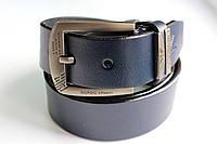 Брендовый синий ремень 'Giorgio Armani' №3