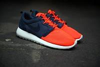 Мужские кроссовки Nike Roshe Run Hyperfuse Blue Red