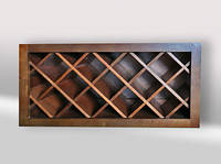 Винная полка деревянная ручной работы