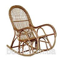 Кресло-качалка плетенное из лозы с косой