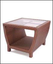 Столик журнальный плетеный  600х600х500мм