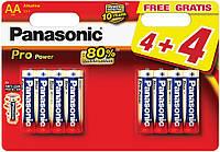 Батарейка щелочная Panasonic Pro Power LR6PPG/8BW 4+4F, AA/(L)R6, блистер 4+4шт, цена за уп., Belgium