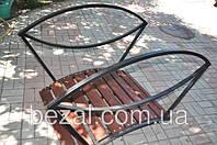 Мостик садовый для ландшафтного дизайна МС-2  Овал темный
