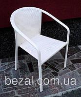 Кресло садовое из искусственного ротанга КСР-4 белый, фото 1