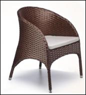 Кресло для ресторана, кафе, летней площадки из искусственного ротанга КСР-13, фото 1